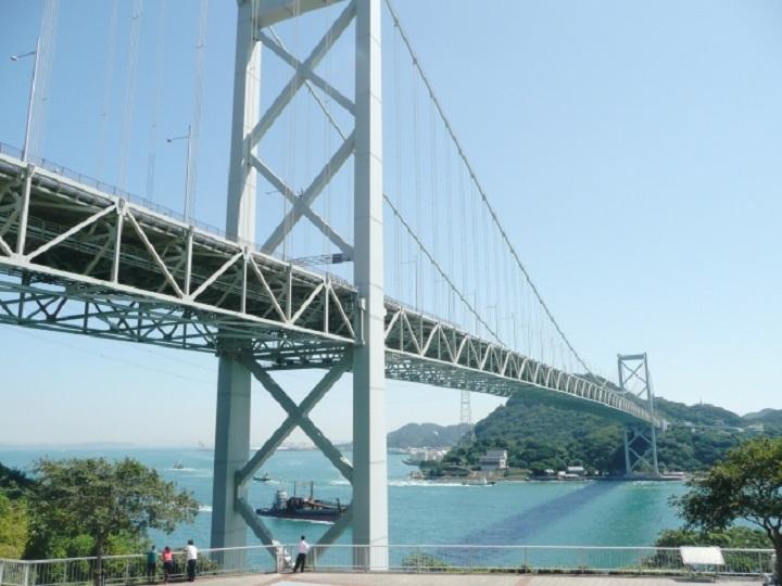 壇ノ浦PAからの関門橋