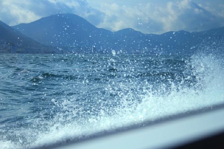 関門海峡船景色