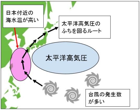 台風の多い時期