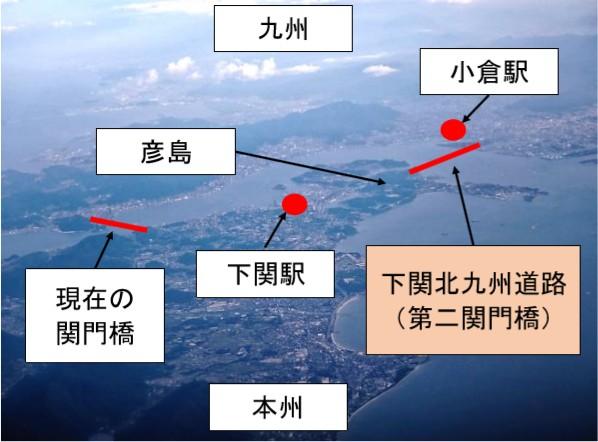 第二関門橋のルート