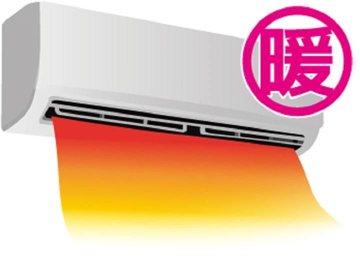 エアコン暖房のイラスト大