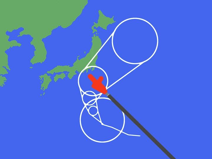 台風上陸のアイキャッチ
