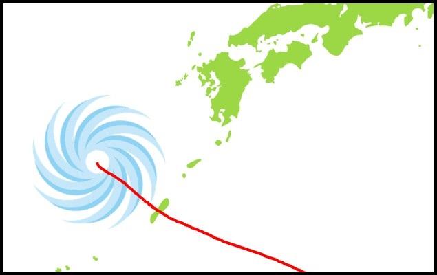 台風の通過
