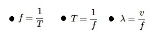 周波数・周期・波長の式