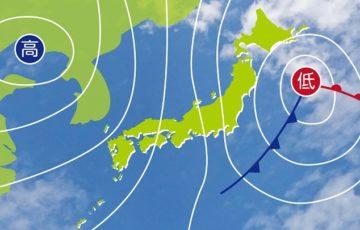 西高東低の天気図