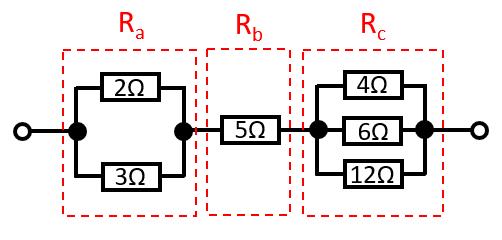直列並列合成抵抗の例題2